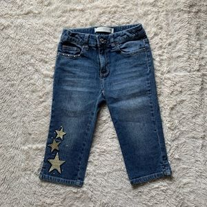 Route 66 Girls Embroidered Star Capris